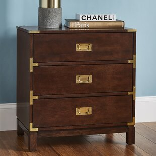 Eivind 3 Drawer Nightstand