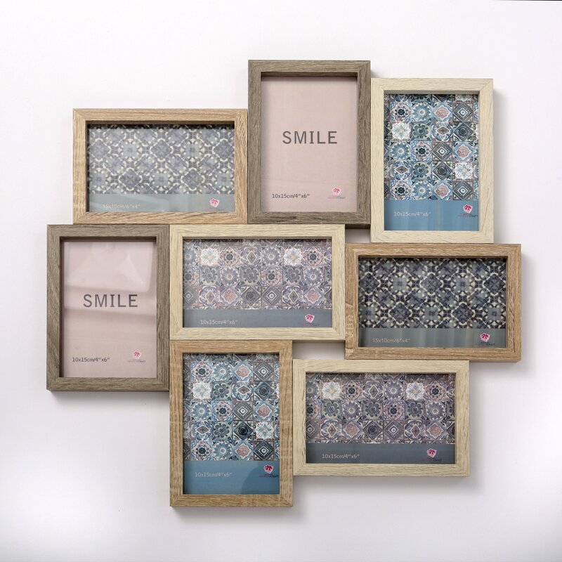 Gulledge Wood Puzzle Style Collage Picture Frame Reviews Birch Lane