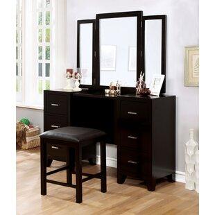 Canora Grey Ogden Vanity Set with Mirror