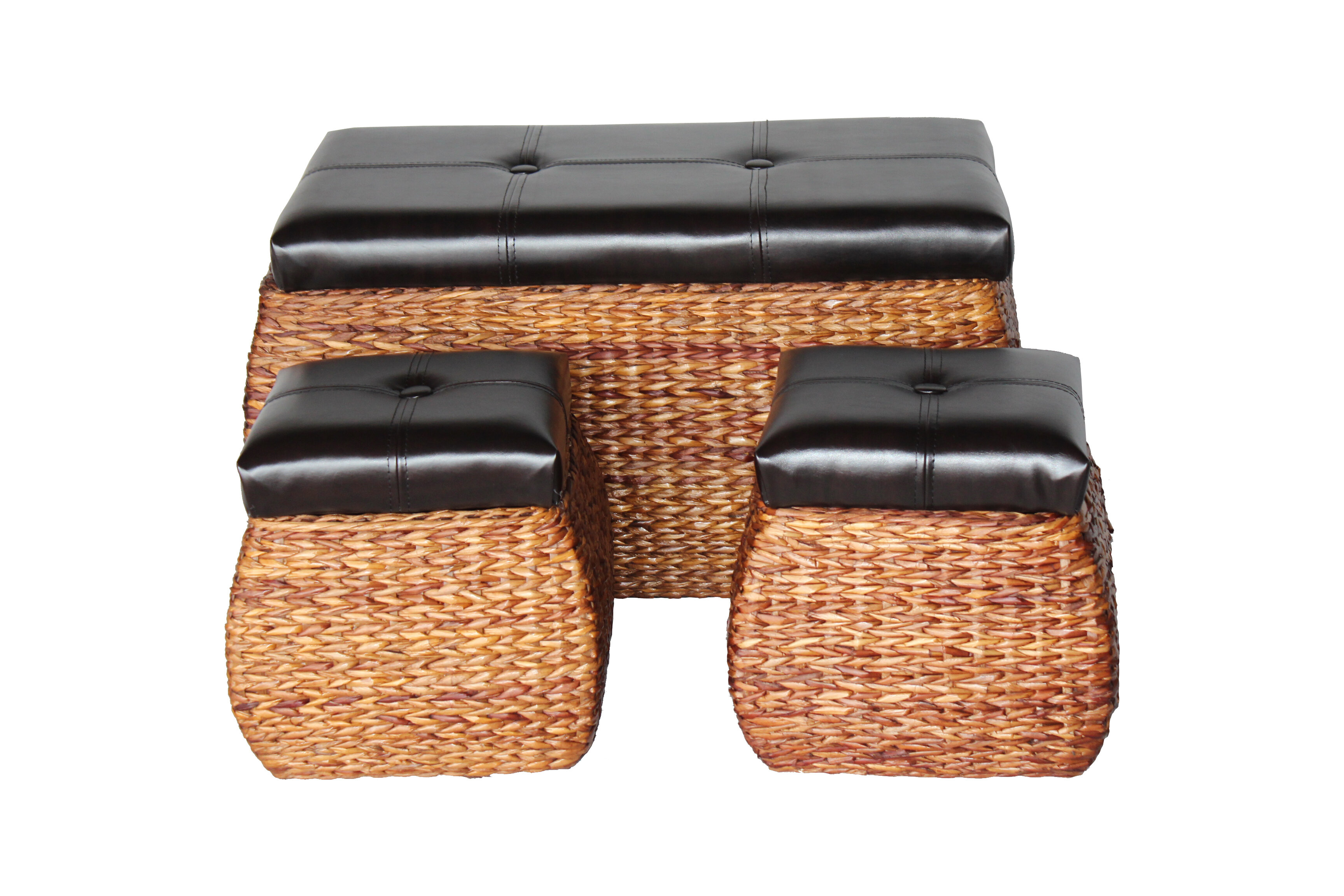 Awe Inspiring 3 Piece Storage Ottoman Set Gmtry Best Dining Table And Chair Ideas Images Gmtryco