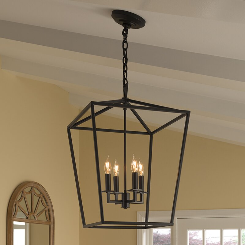 Foyer Caged Chandelier : Norwell lighting cage light foyer pendant reviews