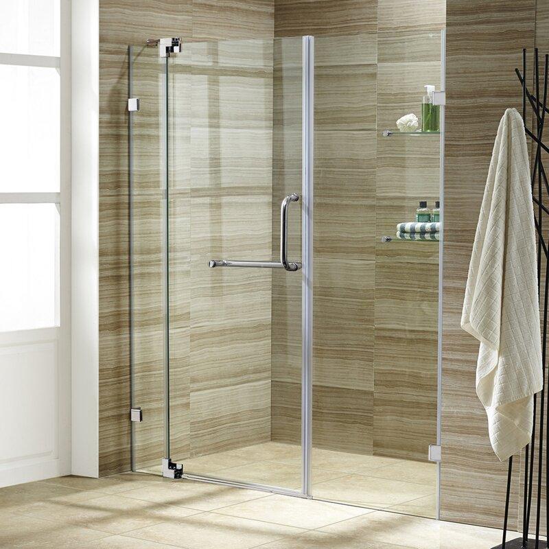 bathroom shower doors. Pirouette 60  x 72 Pivot Frameless Shower Door VIGO Reviews