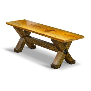 Cross Beam Wood Bench by Vintage Flooring and Furniture