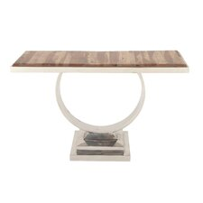Stainless Steel Wood Console Table by Cole & Grey