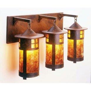 Ber 3-Light Outdoor Wall Lantern By Loon Peak