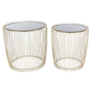 Kirtin Metal/Glass End Table