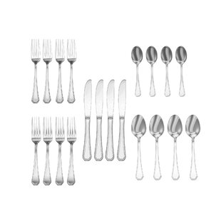 Telscombe 20 Piece 18/10 Stainless Steel Flatware Set, Service for 4
