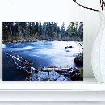 Designart Rapid Virgin River Photographic Print On Wrapped Canvas Wayfair