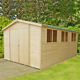 10 Ft. W X 15 Ft. D Shiplap Apex Wooden Shed By Sol 72 Outdoor