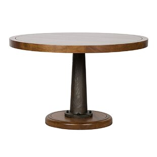 Yacht Solid Wood Dining Table With Cast Pedestal by Noir Best
