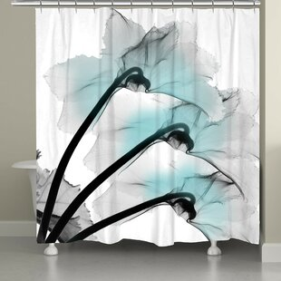 Latitude Run Bolivar Orchid X-Ray Flower Shower Curtain
