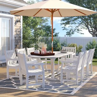 Hatten 9 Piece Dining Set by Sol 72 Outdoor Modern