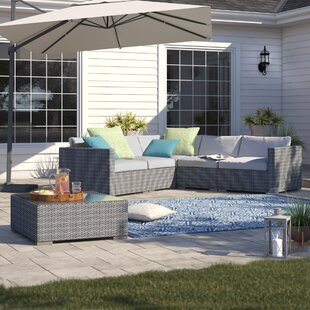 Bellamira 6 Piece Rattan Sectional Set with Cushions