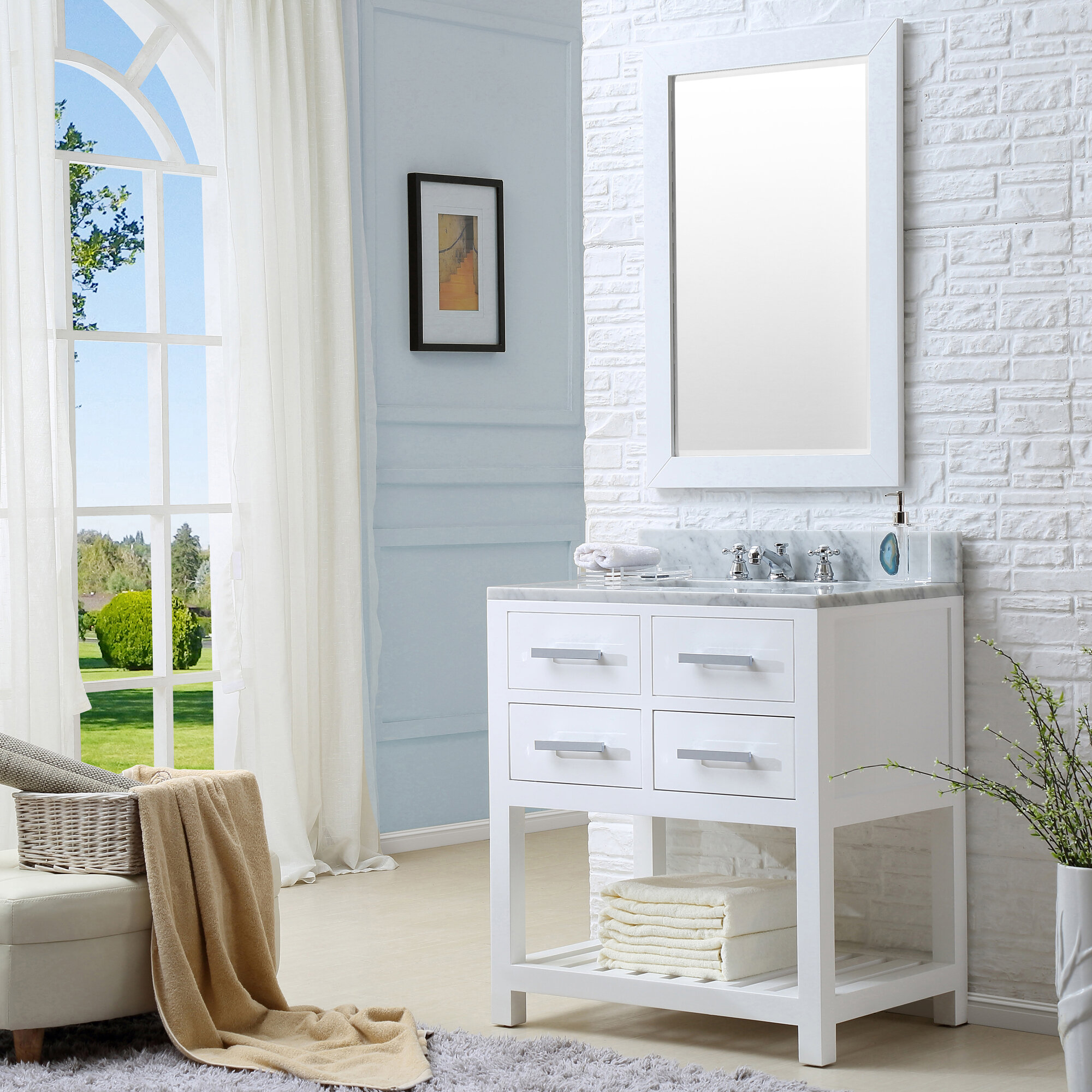 Perego 30 Single Bathroom Vanity Set With Mirror Reviews Allmodern