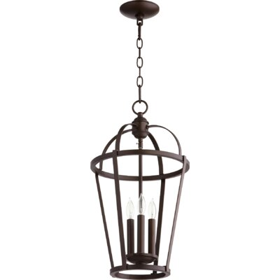 Mitre entry 3 light foyer pendant