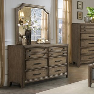 Odette 6 Drawer Double Dresser with Mirror