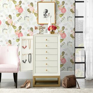 Poyen 6 Drawer Free Standing Jewelry Armoire by Everly Quinn