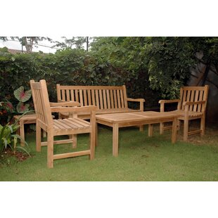 Farnam 5 Piece Teak Sofa Seating Group
