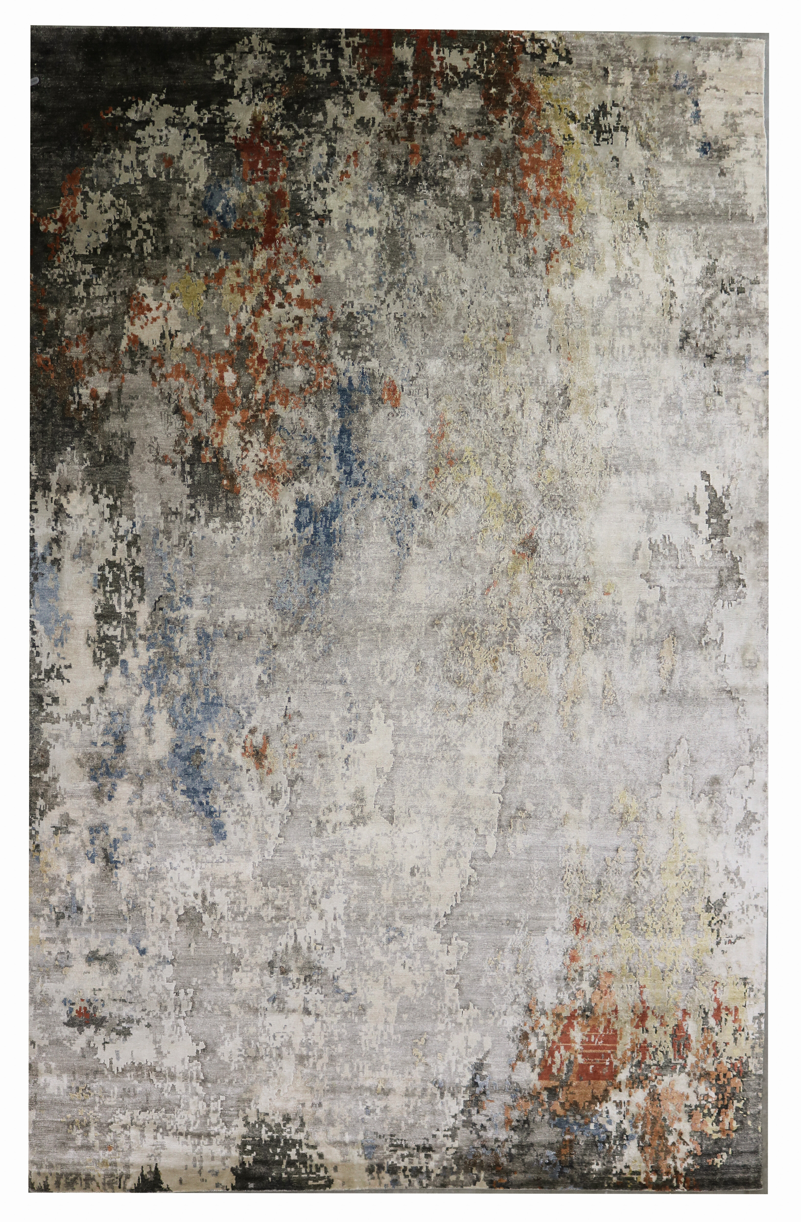 Bokara Rug Co Inc Abstract Hand Knotted Gray Red Black Area Rug Perigold