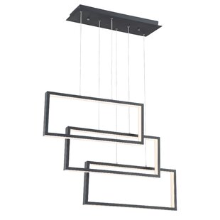 Eskridge 3-Light LED Rectangle Pendant by Orren Ellis