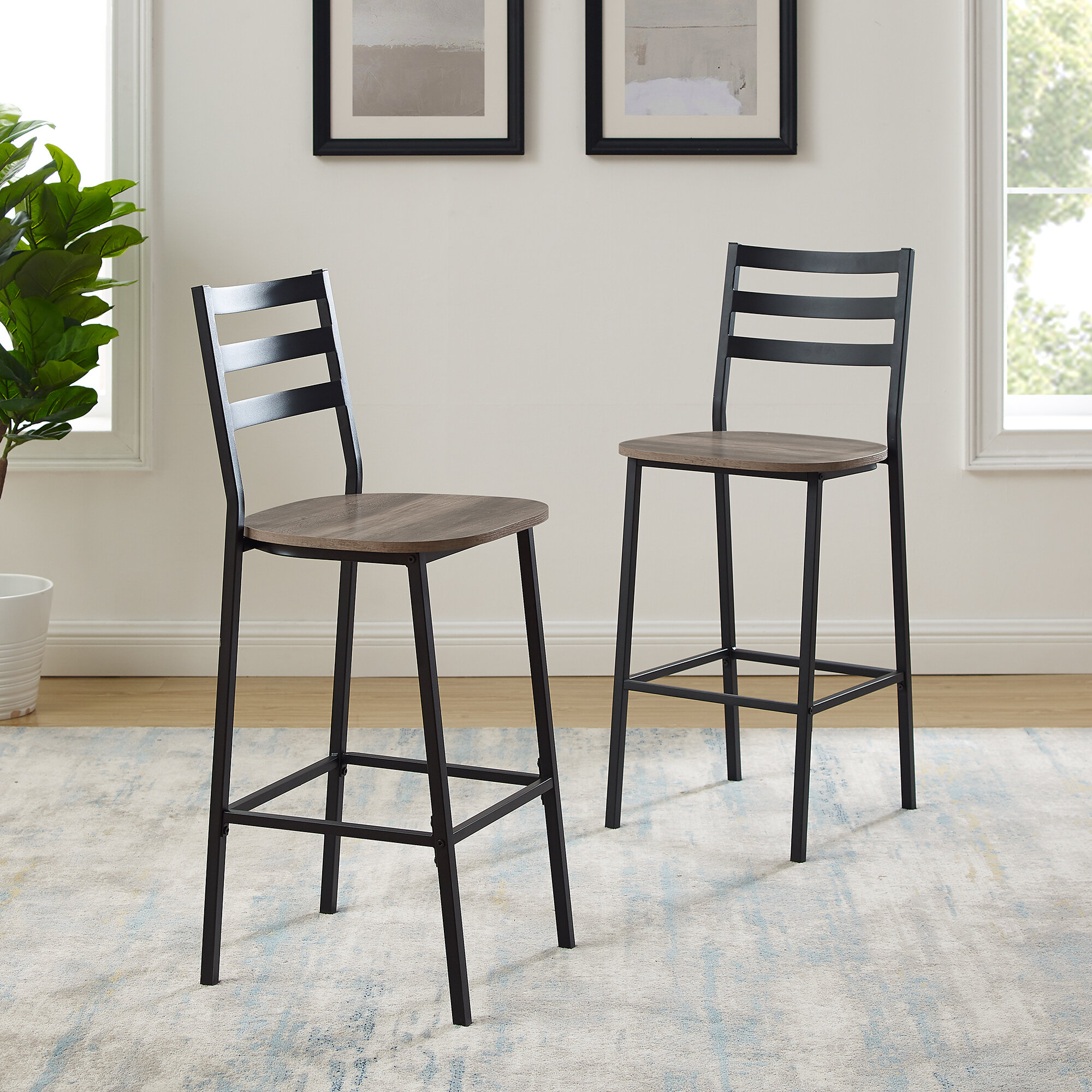 Union Rustic Margr Industrial 26 Counter Stool Reviews Wayfair
