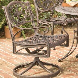 Six Swivel Patio Dining Chair