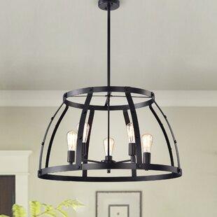 Gracie Oaks Shih 5-Light Lantern Pendant