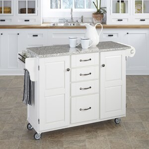 Adelle-a-Cart Kitchen Island with Granite Top by A