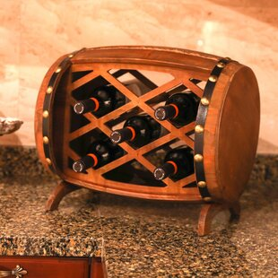 Gullo Rustic Wooden 5 Bottle Floor Wine Bottle Rack by Fleur De Lis Living