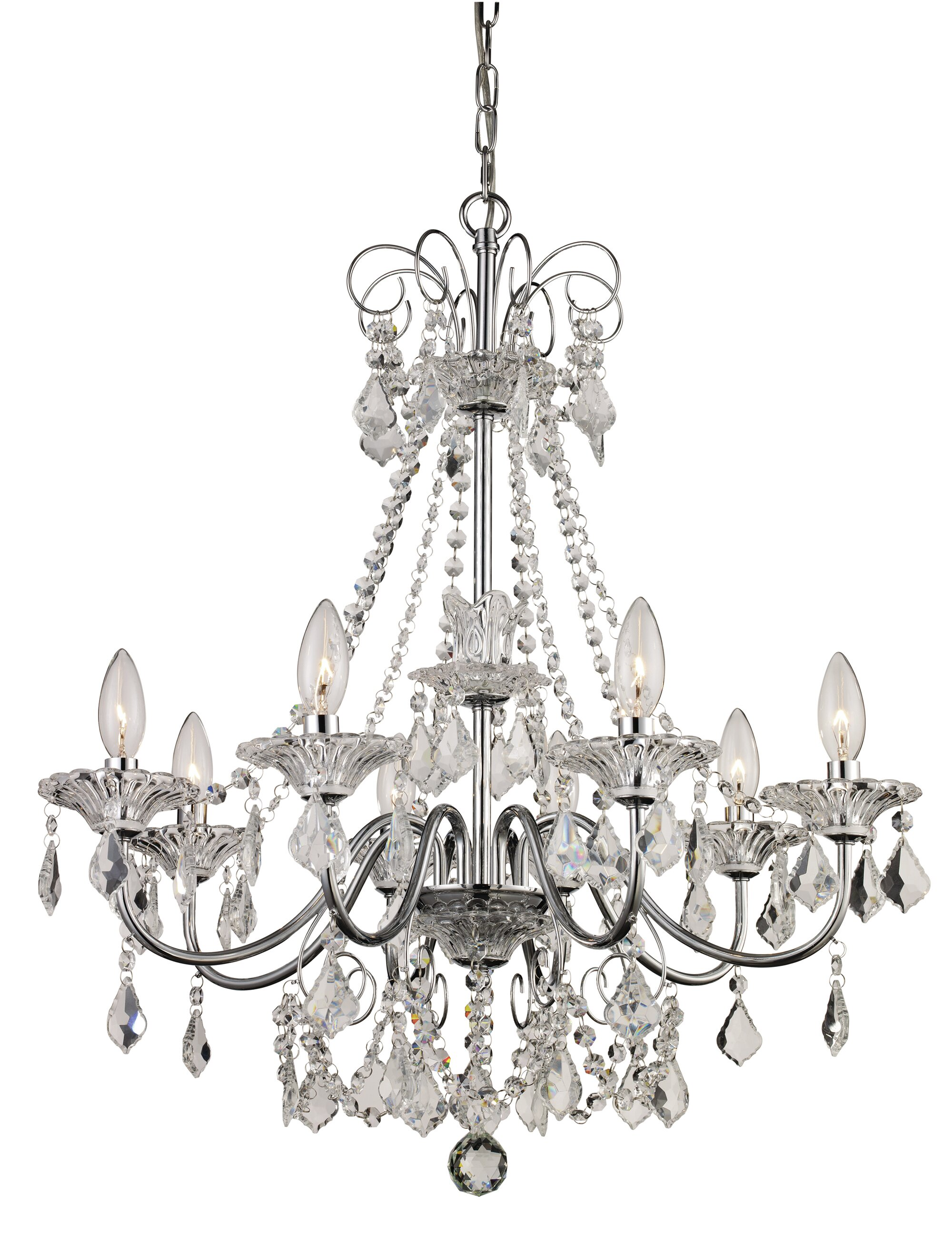 House of Hampton Jeter 8 Light Crystal Chandelier & Reviews