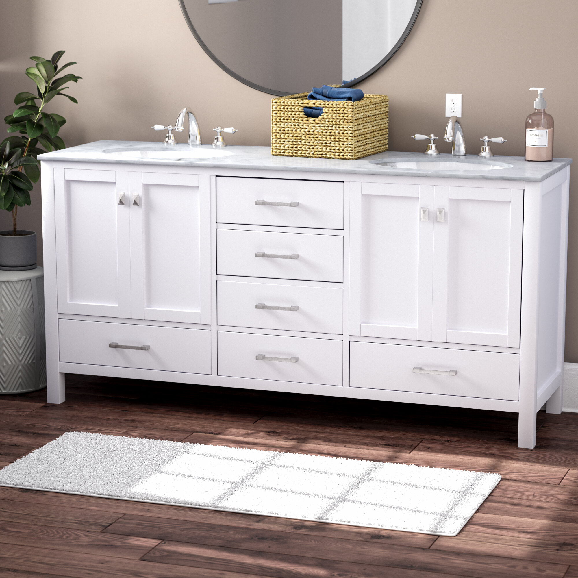 Tremendous Bowlin 72 Double Sink Bathroom Vanity Download Free Architecture Designs Barepgrimeyleaguecom