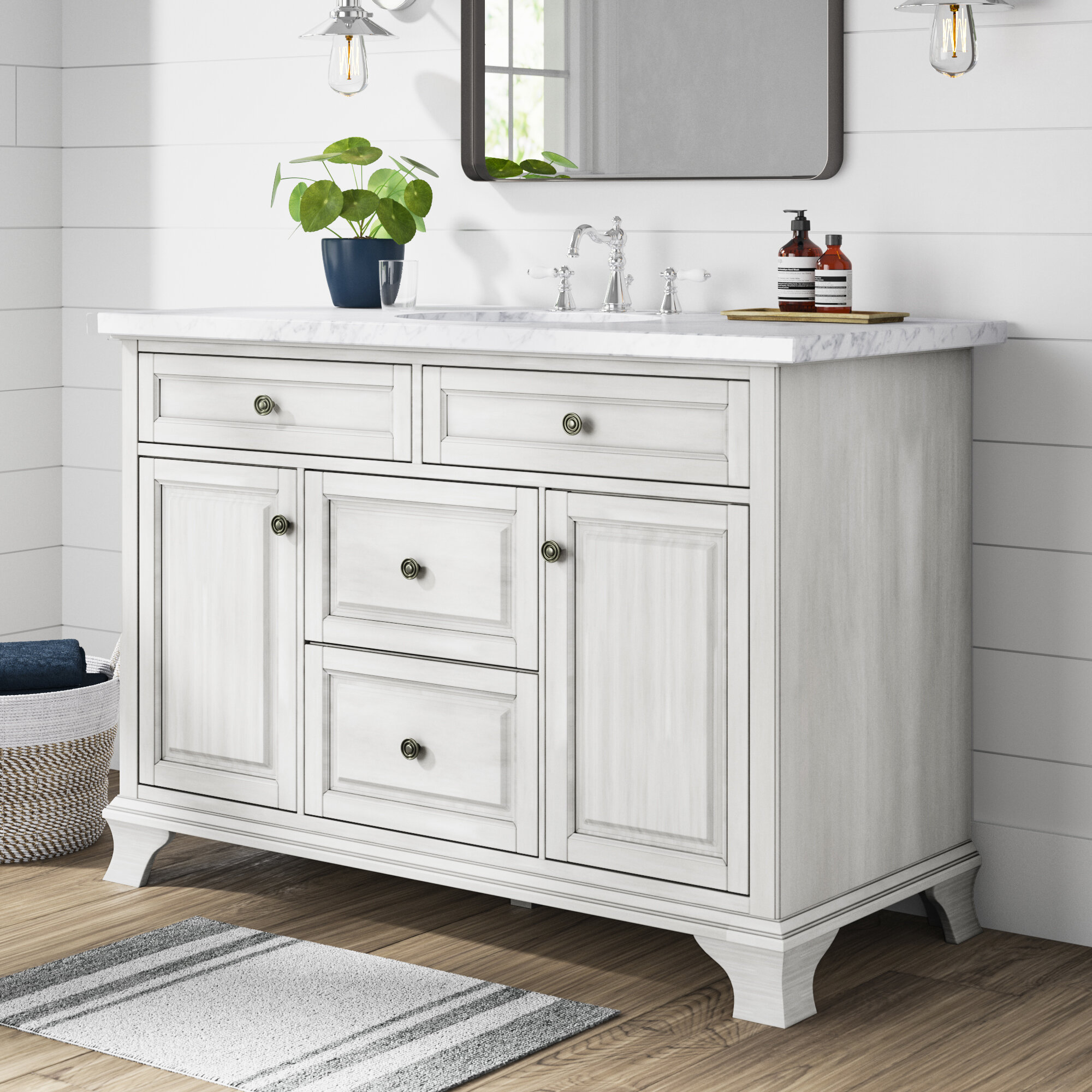 "Levesque 7.7"" Single Bathroom Vanity Base Only"