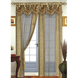 Tango Nature/Floral Sheer Rod Pocket Single Curtain Panel by Dainty Home