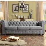 """Quitaque Chesterfield 84"""" Rolled Arm Sofa"""