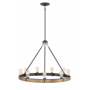 Everett Single Tier 9-Light Candle-Style Chandelier by Hinkley Lighting