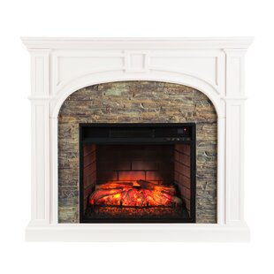 Shanks Faux Stone Electric Fireplace By Alcott Hill