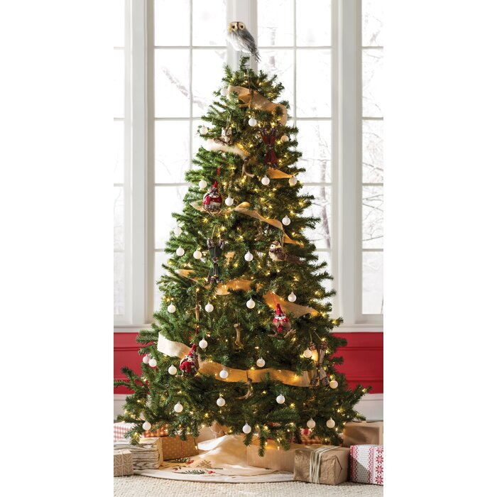 Artifical Christmas Trees.Green Spruce Artificial Christmas Tree With Warm White Lights