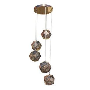 Cassel 5-Light Cluster Pendant by Brayden Studio