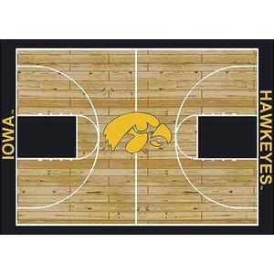 NCAA College Home Court Iowa Novelty Rug