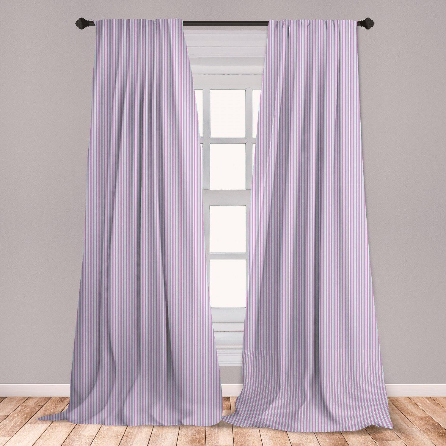 East Urban Home Pinstripe Striped Room Darkening Rod Pocket Curtain Panels Wayfair