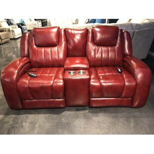 Southern Motion Top Shelf Leather Reclining Loveseat