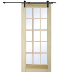 wood natural interior barn door