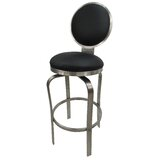 Zion Stainless Steel Bar & Counter Swivel Stool by Williston Forge