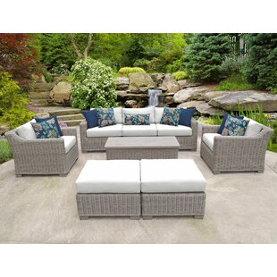 TK Classics Coast 8 Piece Sofa Set with Cushions