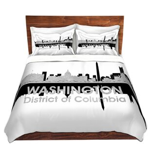 DiaNoche Designs City IV Washington DC Duvet Set