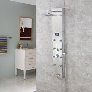 Comparison Massage Tower Thermostatic Rain Shower Panel ByLuxier