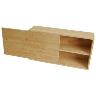 Double Wine Wood Box with Sliding Lid ByUnion Rustic