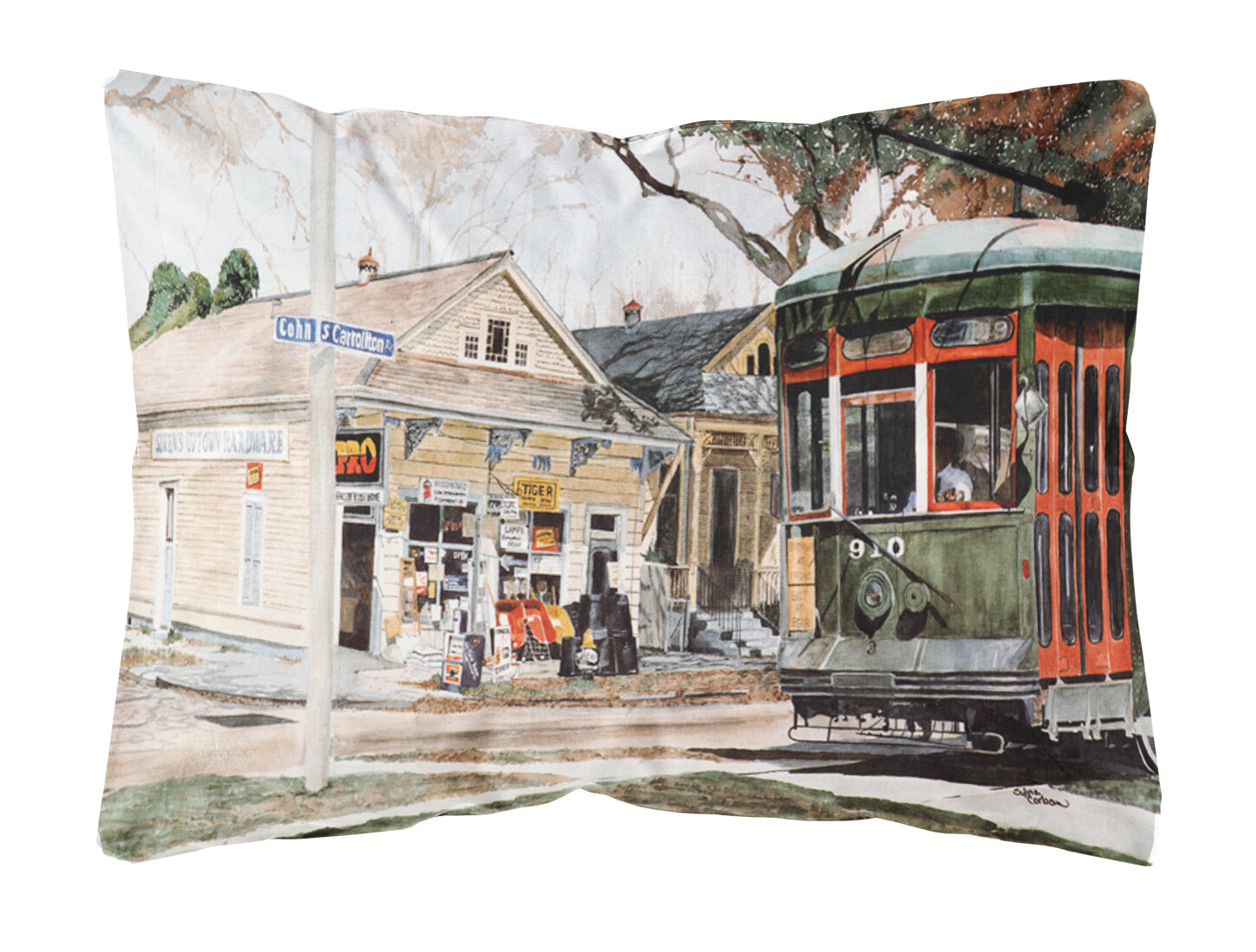 Caroline S Treasures New Orleans Streetcar Indoor Outdoor Throw Pillow Wayfair