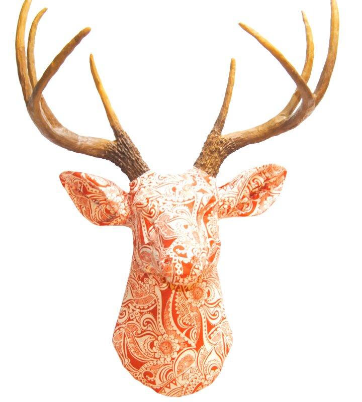 Deer Wall Decor faux taxidermy fabric deer head wall décor & reviews | allmodern
