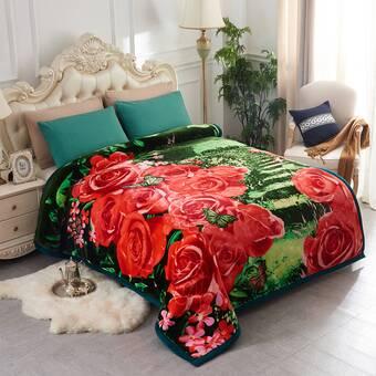 Blanket Queen Korean Floral Ct Flower Roses 769